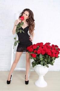 offrir un bouquet de fleurs à sa copine
