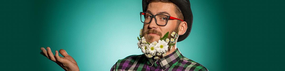 Des fleurs dans les barbes, une nouvelle façon d'offrir des fleurs