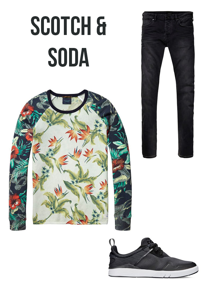 tshirt-imprime-fleuri-scotch-soda
