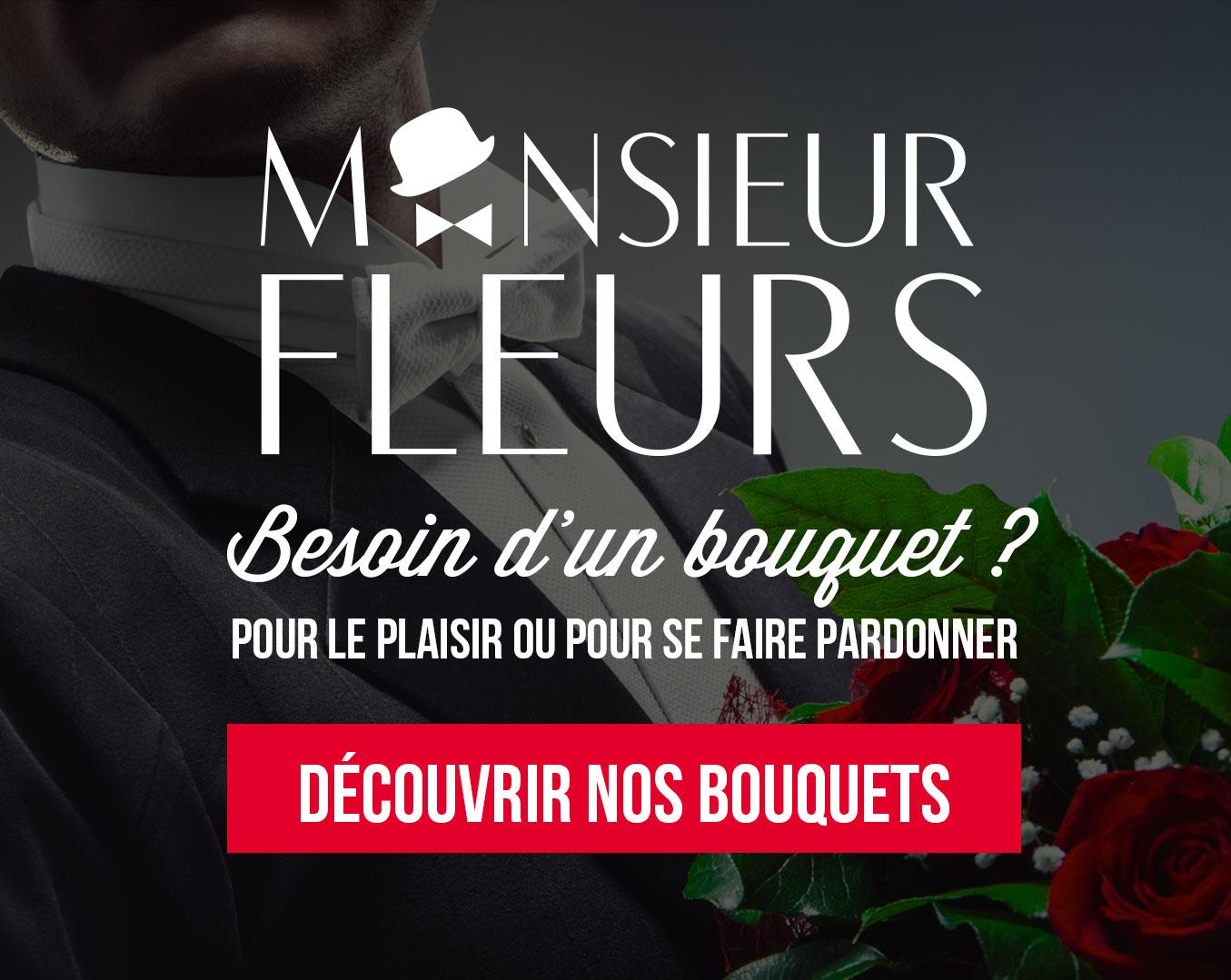 Monsieur fleurs, offrez des bouquets de fleurs différemment